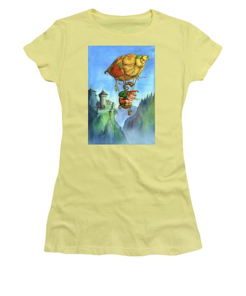 Balloon Ogre Women's T-Shirt (Junior Cut) by Andy Catling