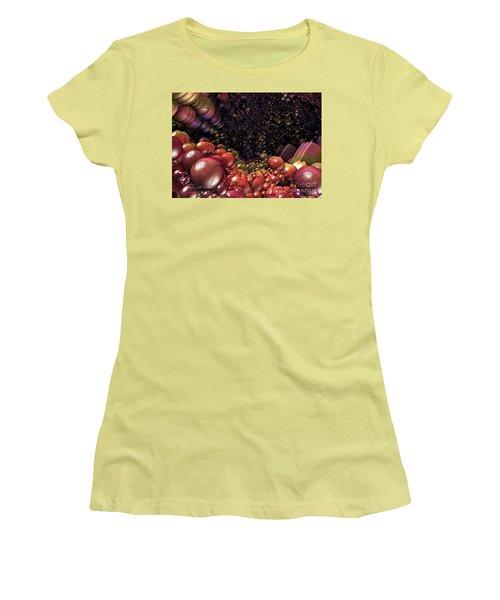 Ballsville Women's T-Shirt (Junior Cut) by Melissa Messick