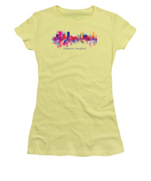 Baltimore Maryland Skyline For T-shirts And Accessories Women's T-Shirt (Junior Cut) by Loretta Luglio
