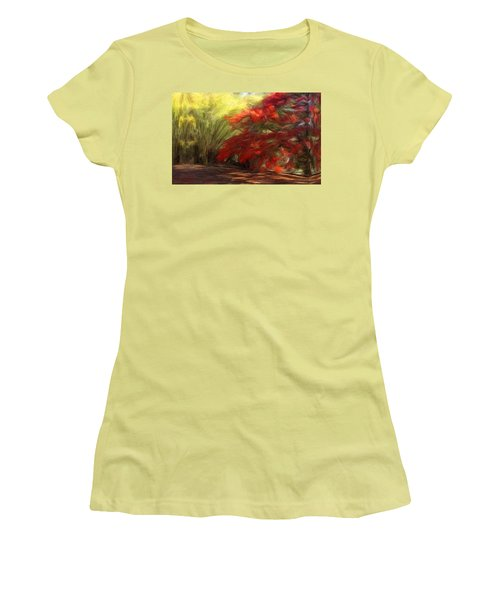 Bamboo And The Flamboyant Women's T-Shirt (Junior Cut) by Caito Junqueira