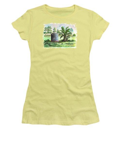 Banana And Tank Women's T-Shirt (Junior Cut) by Anthony Mwangi
