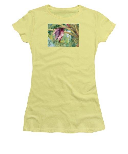 Banana Flower Women's T-Shirt (Junior Cut) by AnnaJo Vahle