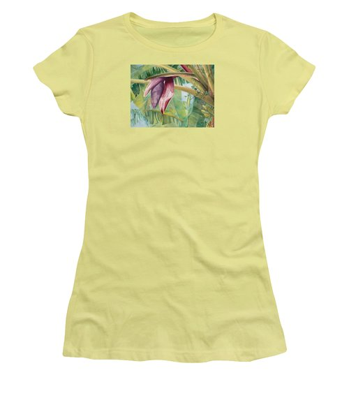 Banana Flower Women's T-Shirt (Athletic Fit)