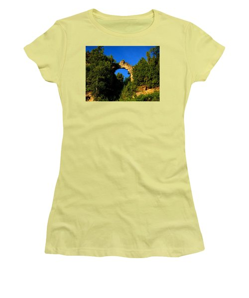 Beneath Arch Rock Women's T-Shirt (Junior Cut) by Keith Stokes