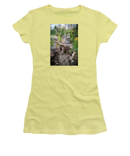 Baptism River In Tettegouche State Park Mn Women's T-Shirt (Athletic Fit)