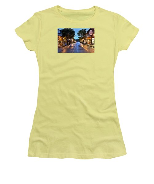 Bar Harbor - Main Street Women's T-Shirt (Athletic Fit)