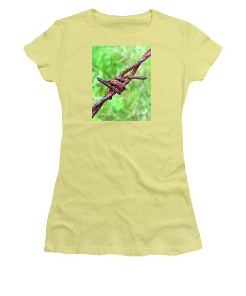 Barbed Women's T-Shirt (Junior Cut) by Bruce Carpenter