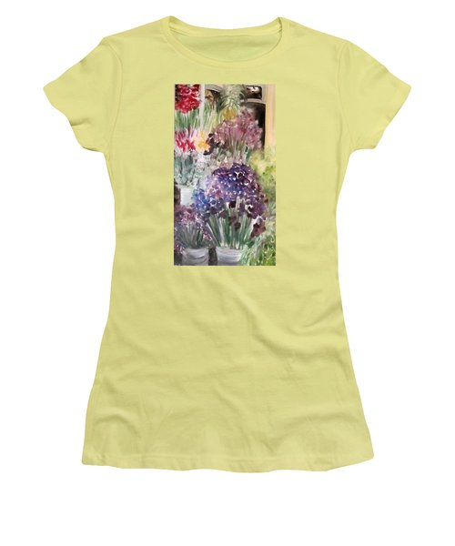 Barcelona Flower Mart Women's T-Shirt (Athletic Fit)