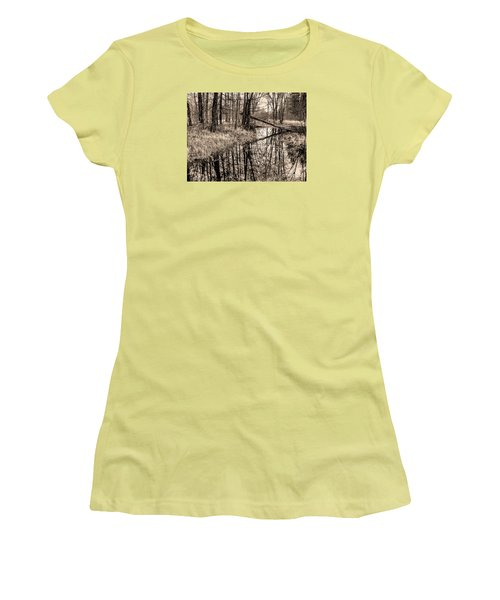 Women's T-Shirt (Junior Cut) featuring the photograph Bare Bones by Betsy Zimmerli
