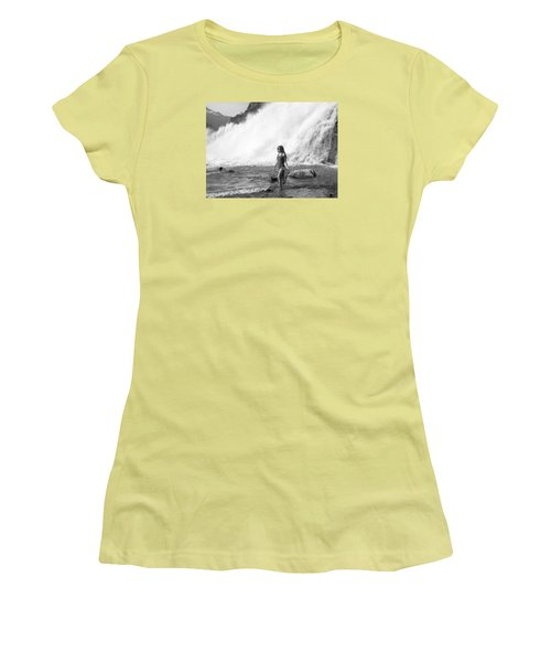 Barefoot In Wilderness Women's T-Shirt (Athletic Fit)