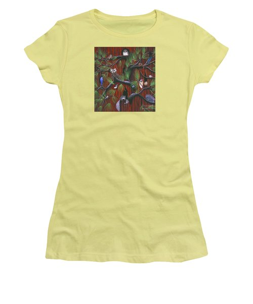 Women's T-Shirt (Junior Cut) featuring the painting Bark by Jennifer Lake