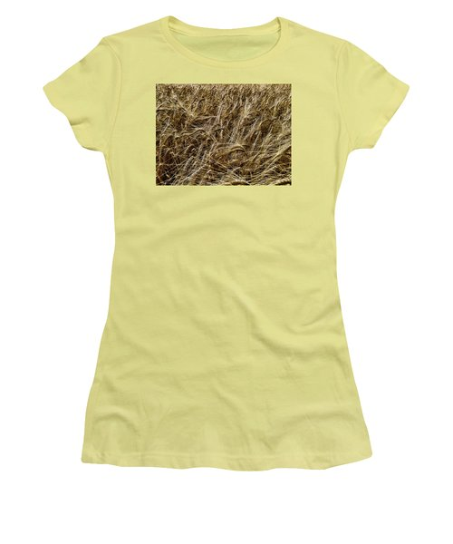 Women's T-Shirt (Junior Cut) featuring the photograph Barley by RKAB Works