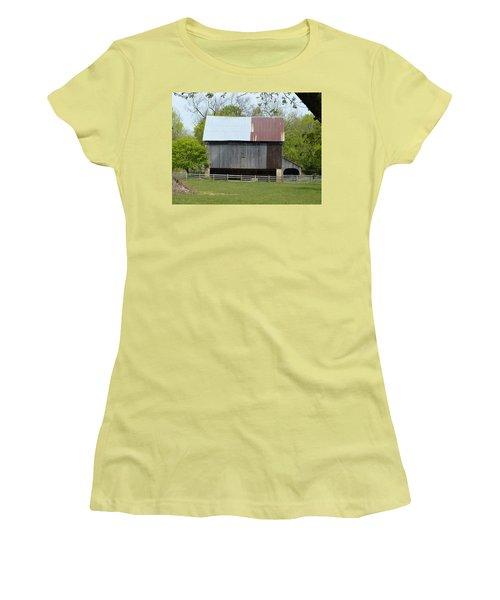 Barn Of Fair Hill Women's T-Shirt (Junior Cut) by Donald C Morgan