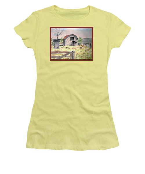 Barn On Fisk Rd Women's T-Shirt (Athletic Fit)