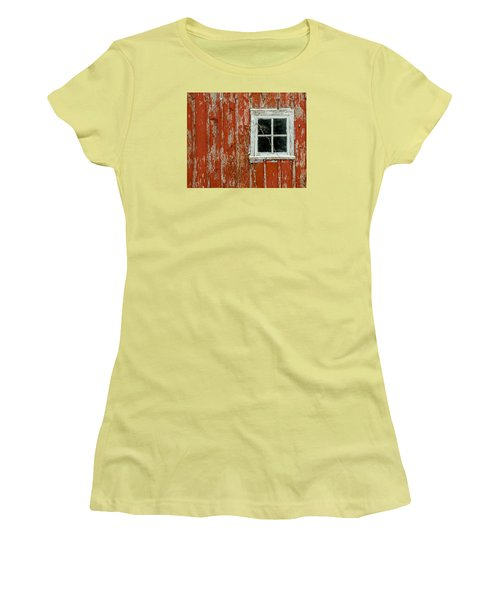 Women's T-Shirt (Junior Cut) featuring the photograph Barn Window by Dan Traun