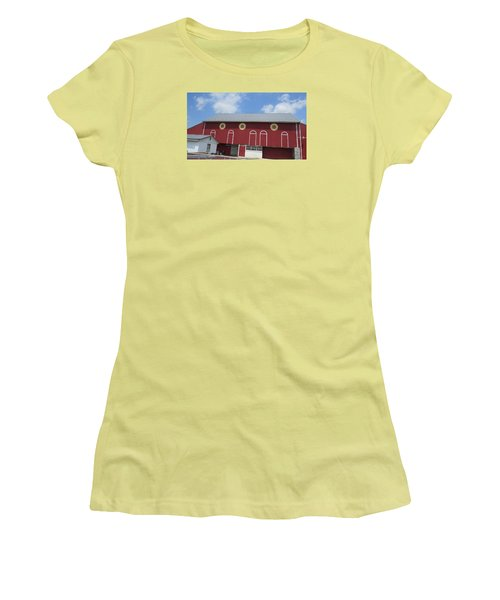Barn With Hex Signs Women's T-Shirt (Junior Cut) by Jeanette Oberholtzer