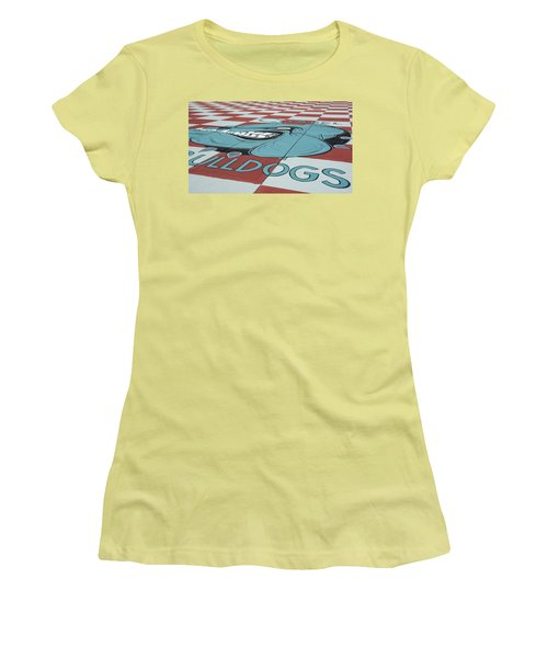 Barracks Bulldog Women's T-Shirt (Junior Cut) by Ed Waldrop