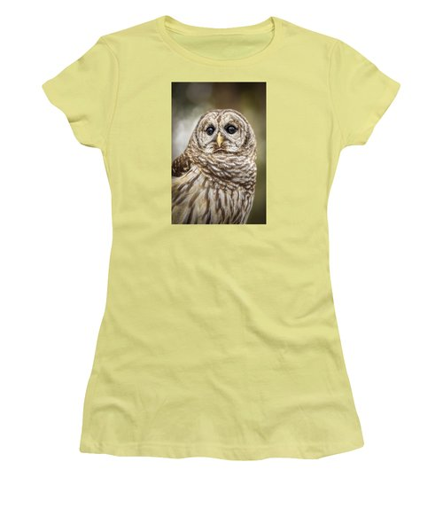 Women's T-Shirt (Athletic Fit) featuring the photograph Hoot by Steven Sparks