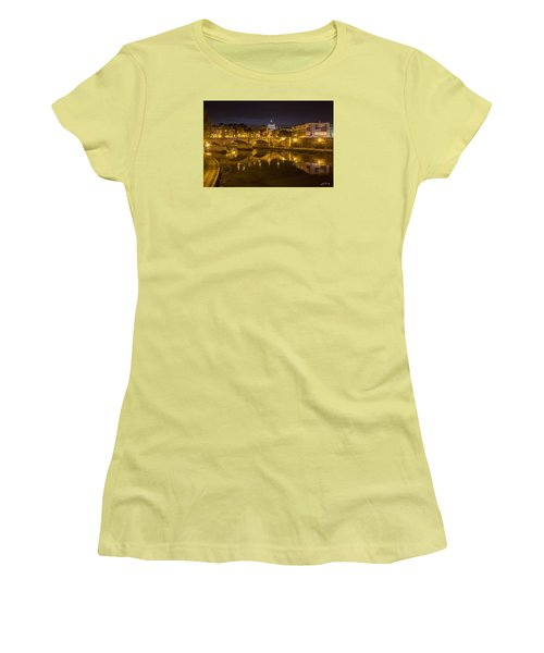 Basilica Over The River Tiber Women's T-Shirt (Junior Cut) by Ed Cilley