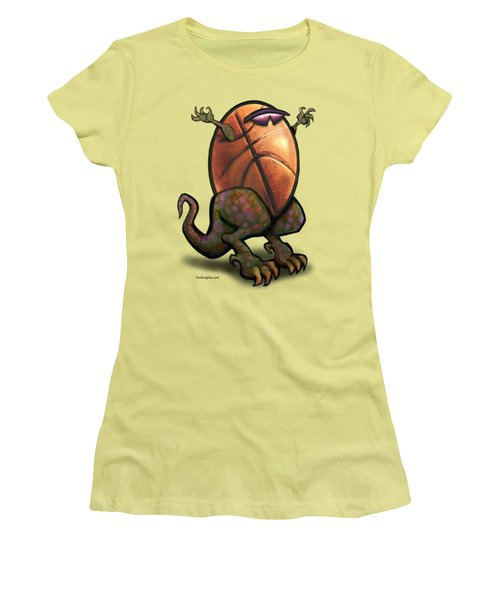 Basketball Saurus Rex Women's T-Shirt (Athletic Fit)
