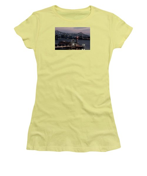 Baton Rouge Bridge Women's T-Shirt (Junior Cut) by Helen Haw