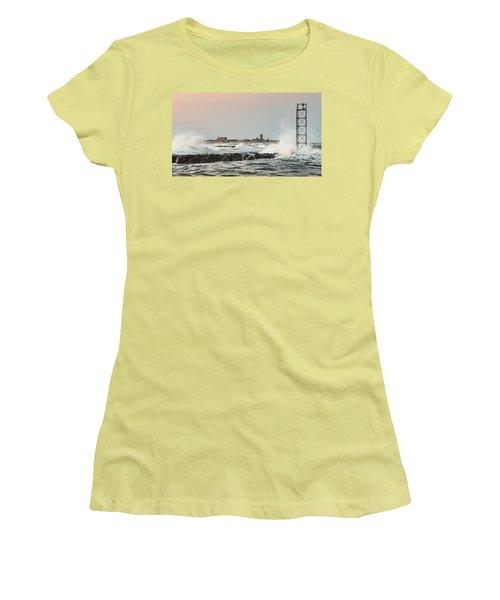 Battering The Shark River Inlet Women's T-Shirt (Junior Cut) by Gary Slawsky