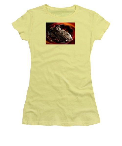 Women's T-Shirt (Junior Cut) featuring the digital art Battlestar Galactica Emerges From The Stargate by Mario Carini