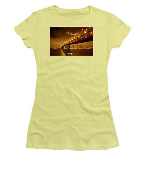 Bay Bridge Women's T-Shirt (Athletic Fit)