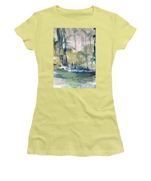 Bayou Blues Abstract Women's T-Shirt (Junior Cut) by Robin Miller-Bookhout