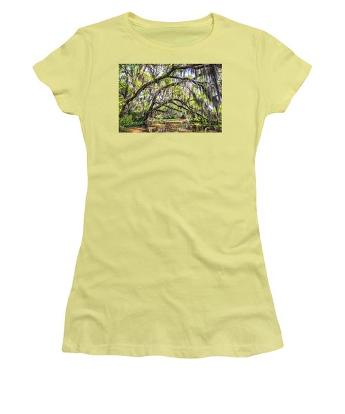 Bayou Cathedral Women's T-Shirt (Junior Cut) by Andy Crawford