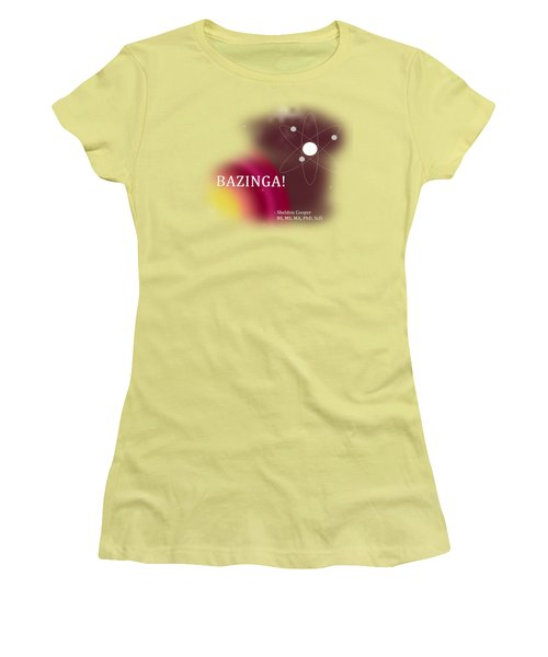 Bazinga Women's T-Shirt (Junior Cut) by Paulette B Wright