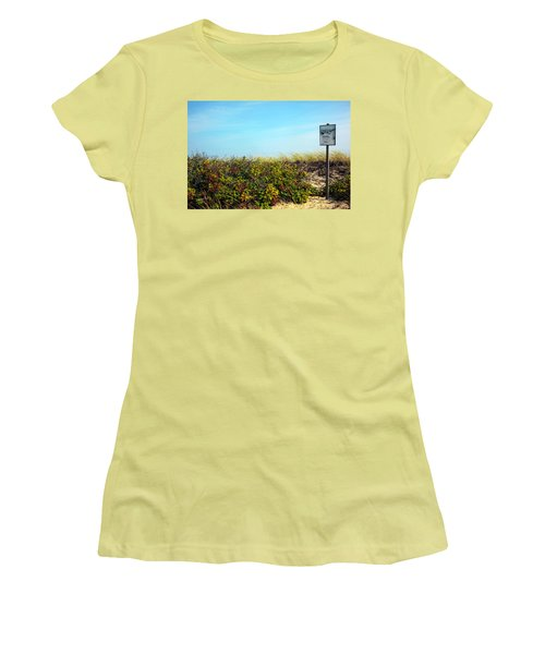 Women's T-Shirt (Junior Cut) featuring the photograph Be Kind To The Dune Plants by Madeline Ellis