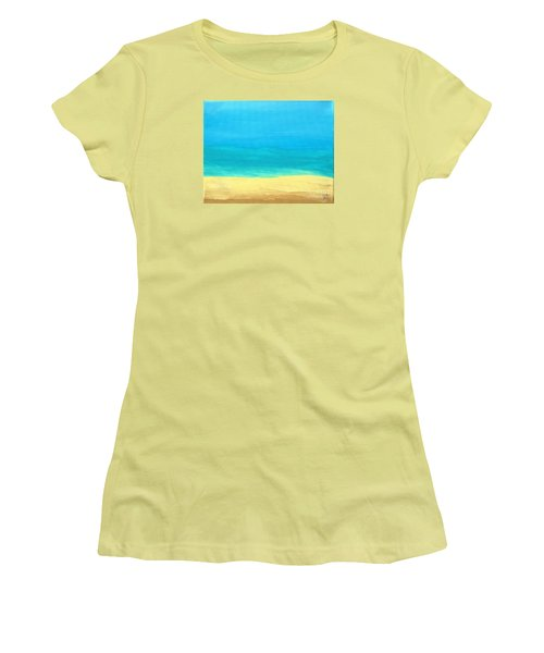 Beach Abstract Women's T-Shirt (Athletic Fit)