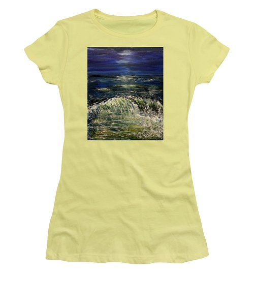 Beach At Night Women's T-Shirt (Athletic Fit)
