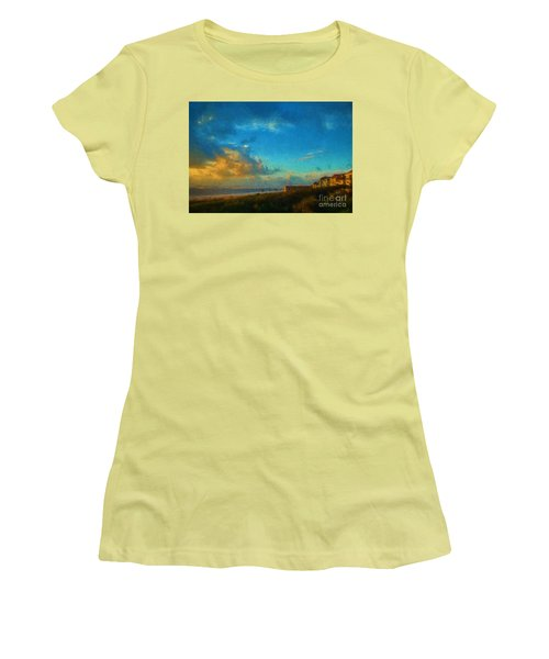 Beach Beauty  Women's T-Shirt (Athletic Fit)