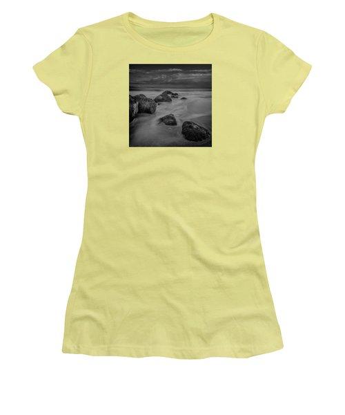 Beach Boulders Women's T-Shirt (Athletic Fit)