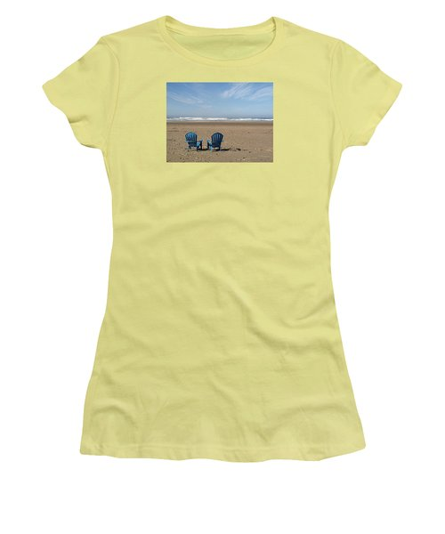 Beach Chair Pair Women's T-Shirt (Athletic Fit)