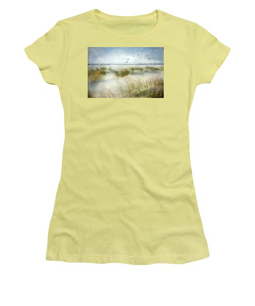 Women's T-Shirt (Junior Cut) featuring the photograph Beach Dreams by Annie Snel