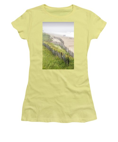 Beach Fences In A Storm Women's T-Shirt (Athletic Fit)