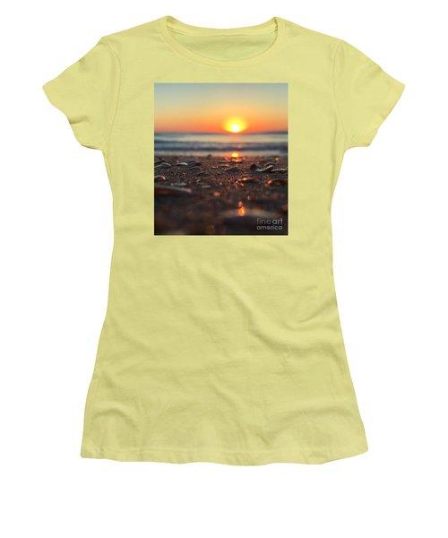 Beach Glow Women's T-Shirt (Junior Cut) by LeeAnn Kendall