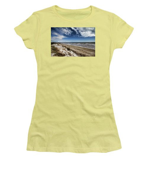 Beach Life Women's T-Shirt (Junior Cut) by Douglas Barnard