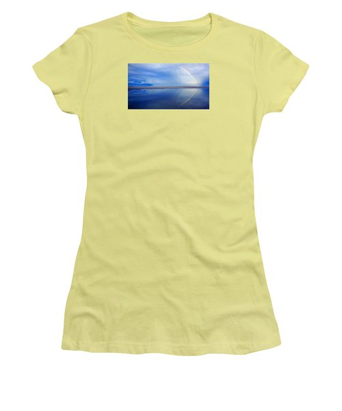 Beach Rainbow Reflection Women's T-Shirt (Athletic Fit)