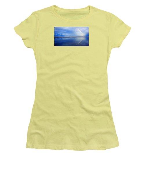 Beach Rainbow Reflection Women's T-Shirt (Athletic Fit)