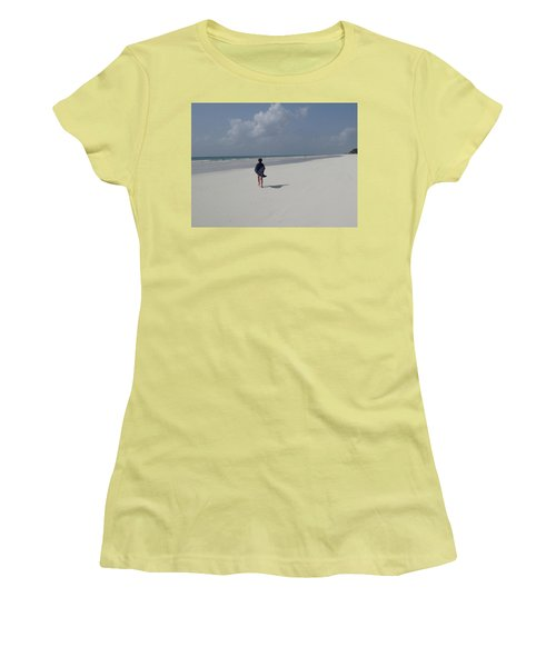 Beach Run Women's T-Shirt (Athletic Fit)