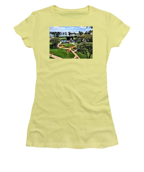 Women's T-Shirt (Junior Cut) featuring the photograph Beach Steeple by Michael Albright