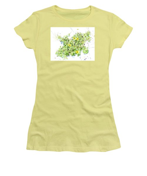 Beach Sun Flowers Women's T-Shirt (Athletic Fit)