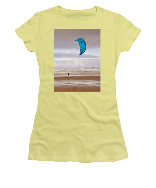 Beach Surfer Women's T-Shirt (Junior Cut) by Wendy McKennon