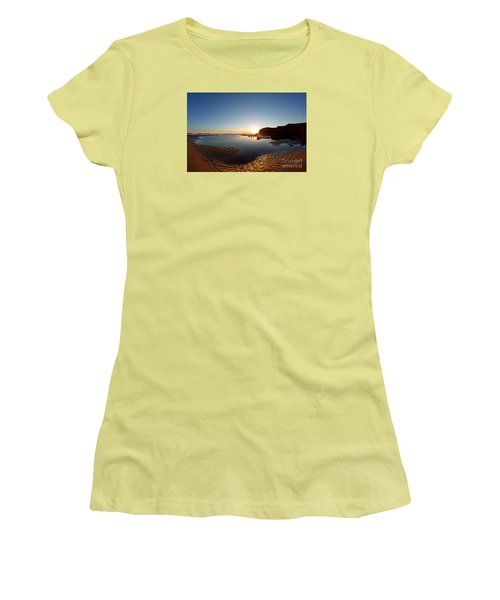Beach Textures Women's T-Shirt (Athletic Fit)