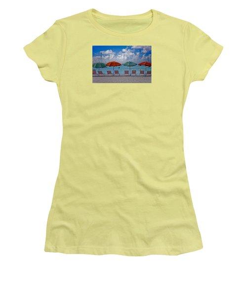 Beachie Keen Women's T-Shirt (Junior Cut) by Matthew Bamberg
