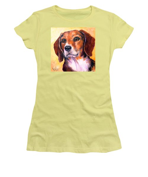 Beagle Billy Women's T-Shirt (Athletic Fit)